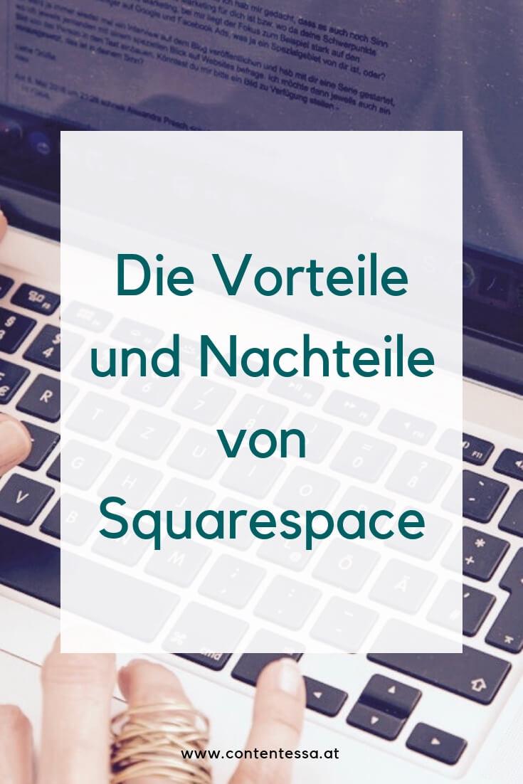 Vor- und Nachteile von Squarespace