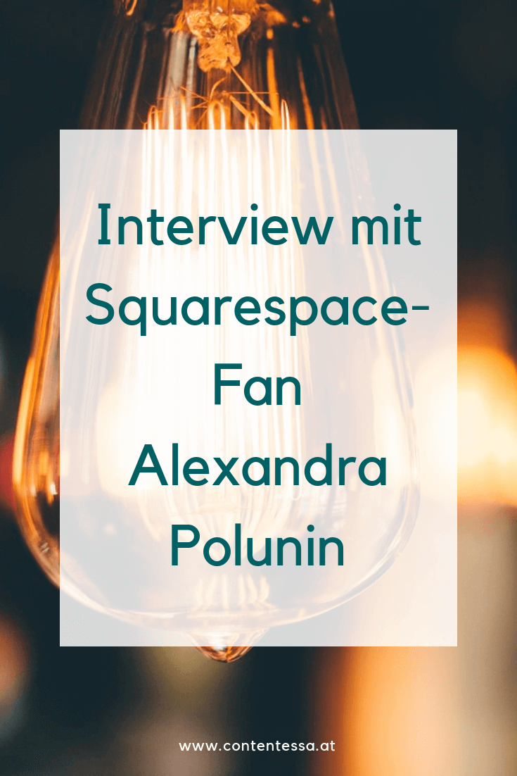 Best Practice: Alexandra Polunin liebt Squarespace