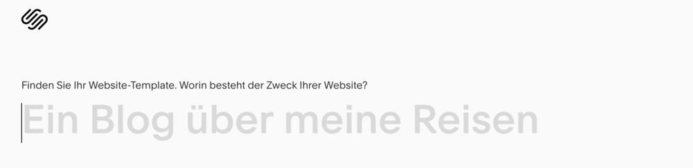 Texteingabefeld Zweck der Website