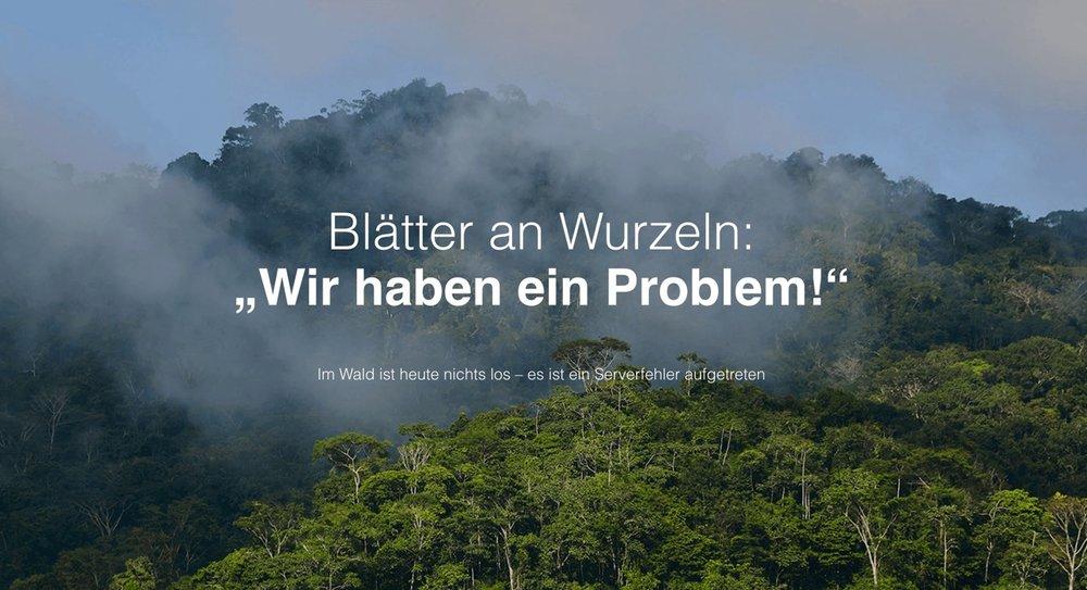 Beispiel 404-Seite von Ecosia