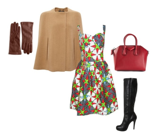 Dress: Fashion Conscience || Wool Cape: Avenue22 || Boots: Anna Field || Tote: Givenchy || Gloves: Lord&Taylor