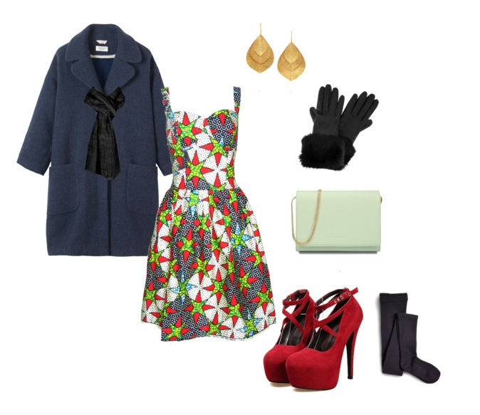 Dress: Fashion Conscience || Coat: Toast || Shoes: Club Culture || Clutch: Charles & Keith || Tights: Sperry Top-Sider || Earrings: The Outnet || Gloves: Pret a Beaute