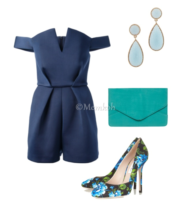 Romper: Paper London || Clutch: Dorothy Perkins || Shoes: Miu Miu || Earrings: Aldo