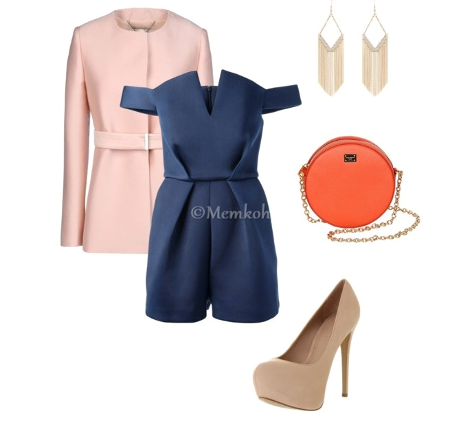 Romper: Paper London || Coat: Stella McCartney || Pumps: Office.co.uk || Bag: Dolce & Gabbana || Earrings: Jane Norman