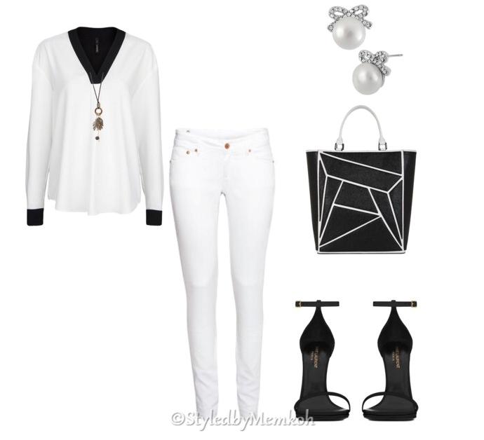 Jeans:Topshop    Top:Mango    Shoes:Saint Laurent   Bag:BCBG    Necklace:Pacsun    Earrings:Lord&Taylor (Betsey Johnson)