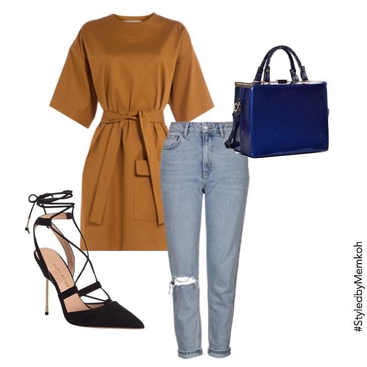Dress:MSGM (via Stylebop)| Jeans:Topshop| Shoes:Kurt Geiger| Bag: contact consult@memkoh.com