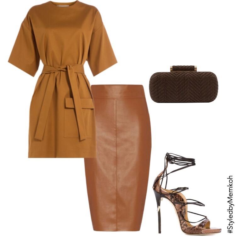Dress:MSGM (via Stylebop)| Skirt:Intermix| Shoes:FarFetch| Clutch:Halsbrook