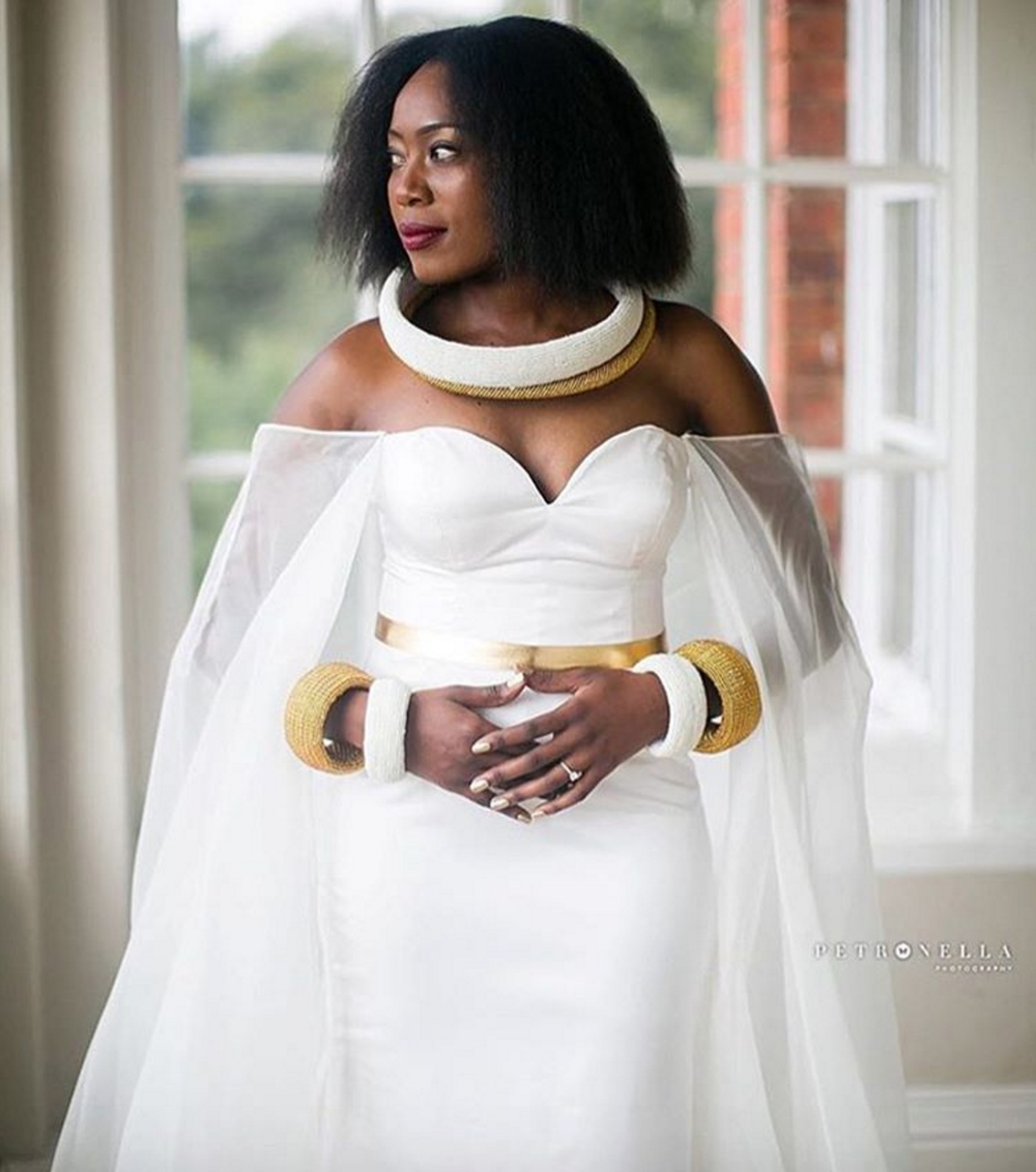 @matselamoshokoa. P.s. this bride is in South Africa, so you can definitely work with this designer regardless of your location or contact me via weddings@memkoh.com for a referral.