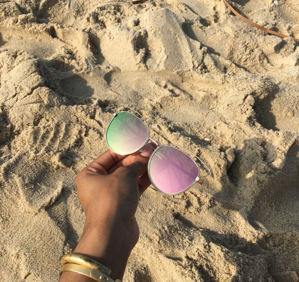 While on the beach, I stole some time to take pictures of these sunglasses I have for sale in my store. Please show your support and shop these sunnies. Thank you! :)