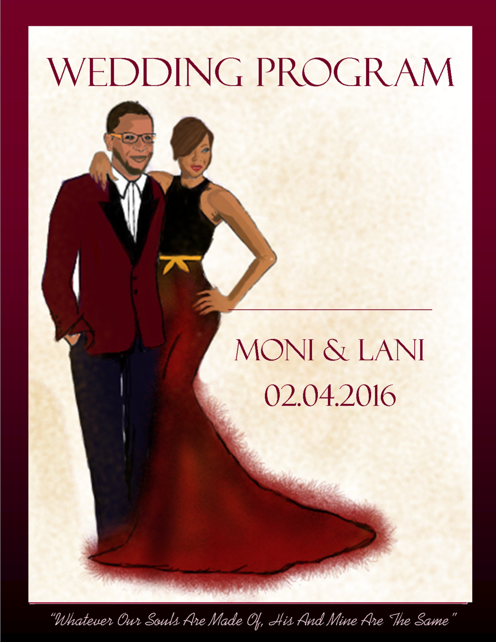 Save-the-Date for Moni and Lani by @foluillustrates