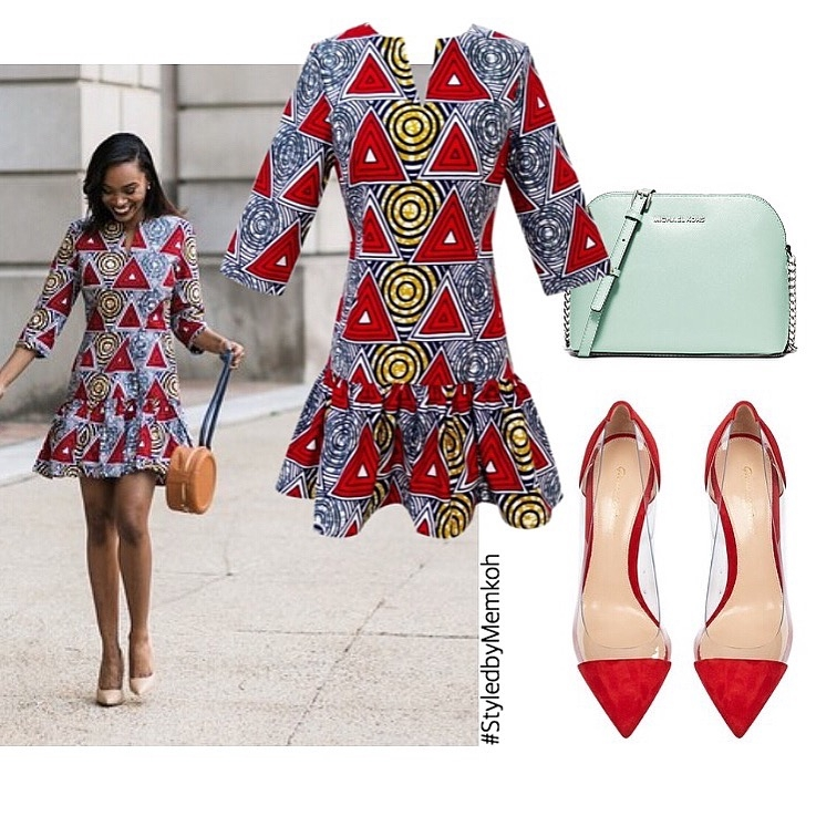 Dora Dress available in 2 colors - Red here and Red/Orange here.