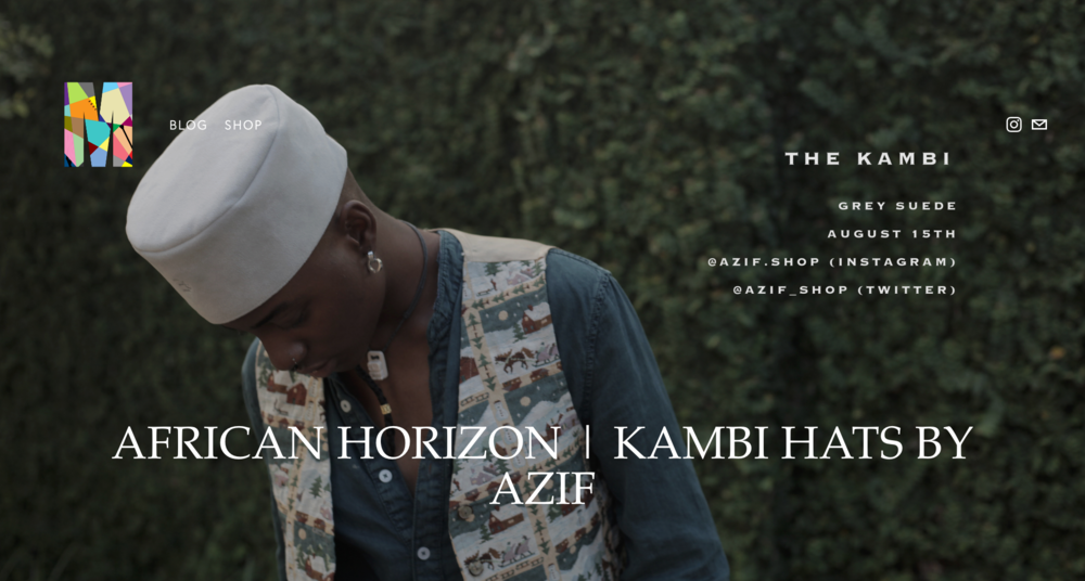 The KAMBI Hat Collection by Azif | www.memkoh.com