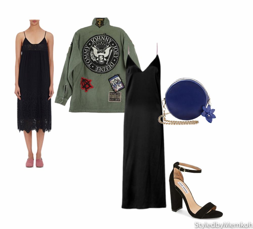 Dress: Rag & Bone | Shoes: Steve Madden| Jacket: Ramones | Purse: Cataleya London
