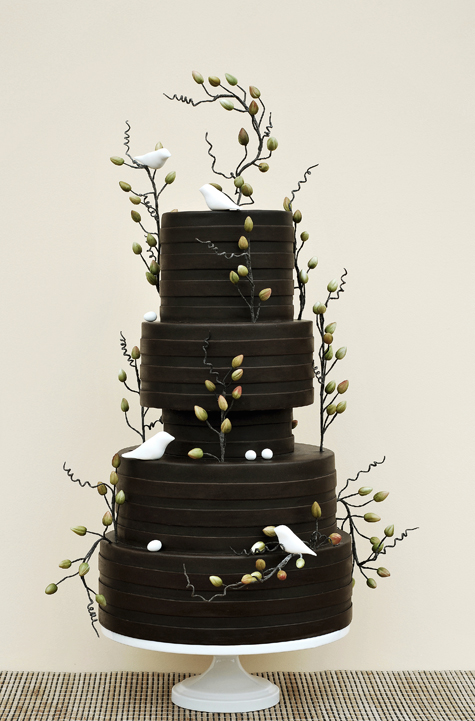 I stalked this cake image till I found the creator. It's by Art and Appetite and this cake was featured in the March 2009 Issue of Cake Central Magazine. I think it is amazing how this cake has stood the test of time. Such a classic!