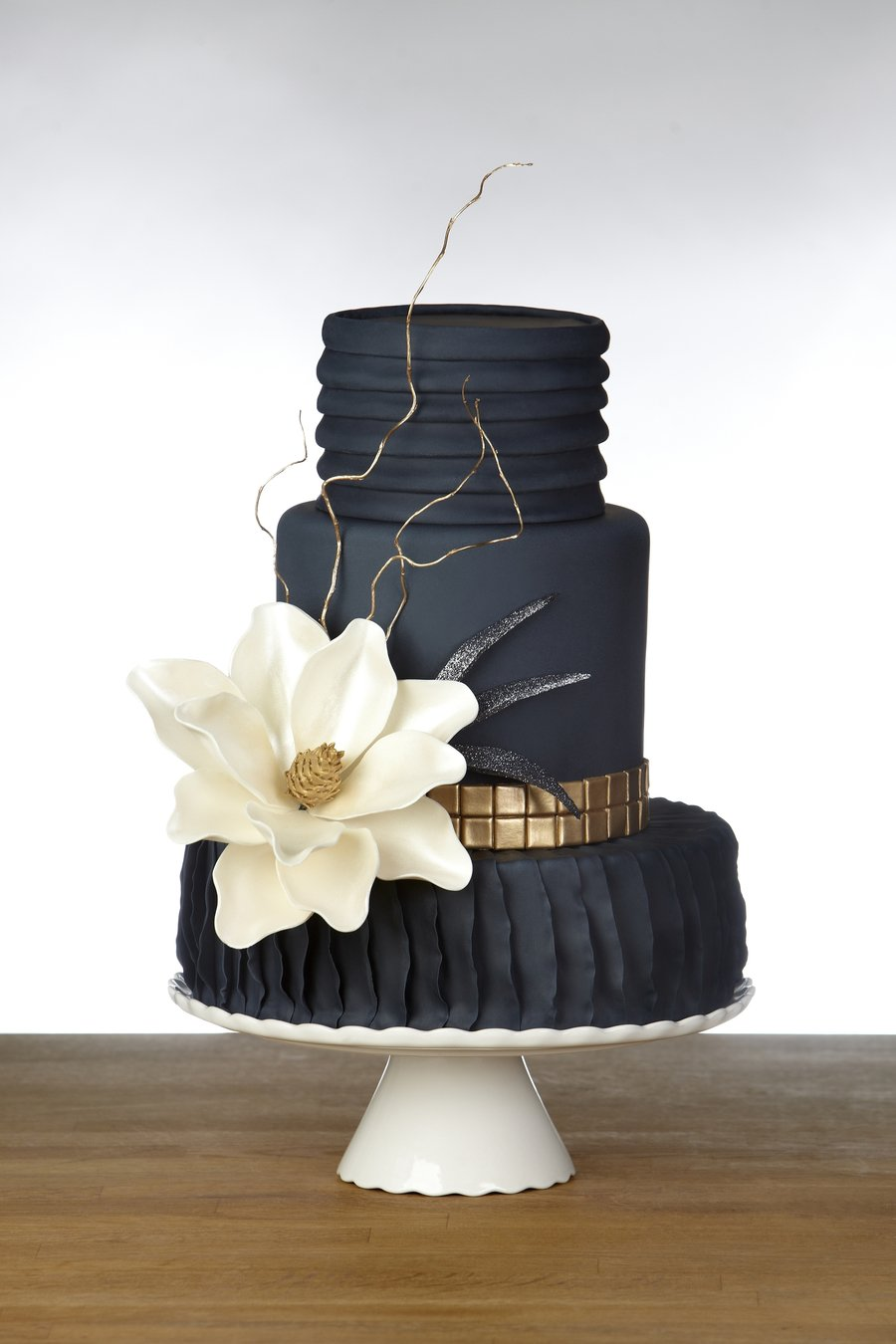 Photo via Cake Central. It was inspired by a dress!