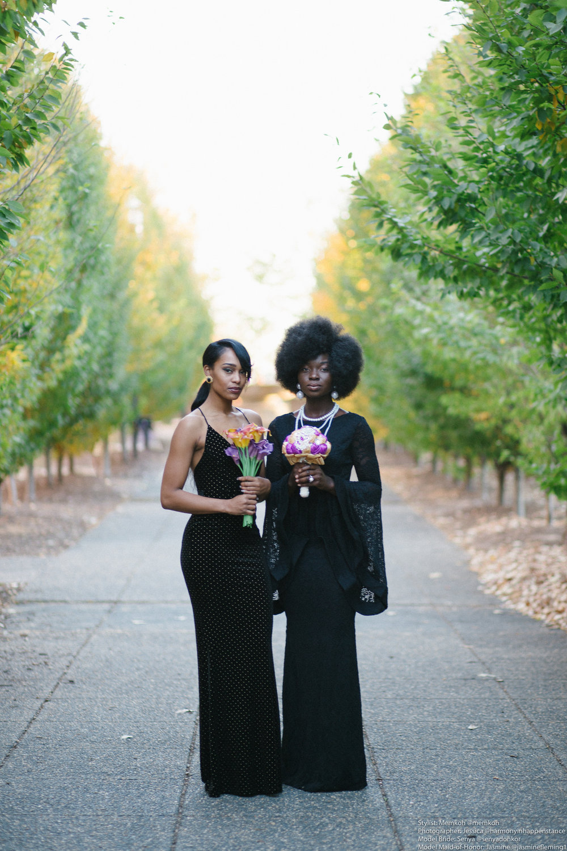 Styled by Memkoh. Photographer @HarmonyinHappenstance. Models - Jasmine Fleming, Senya Donkor