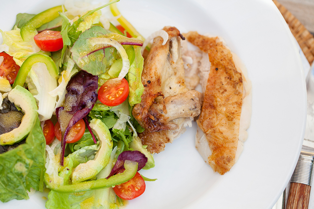 Or serve warm roast chicken with a simple salad and our  Fast & Easy Vinaigrette