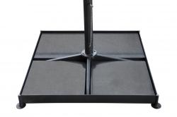 Metalinis pagrindas, komplektuojamas su 4 plytelėmis. 84x84x87 cm KAINA: 275 Eur