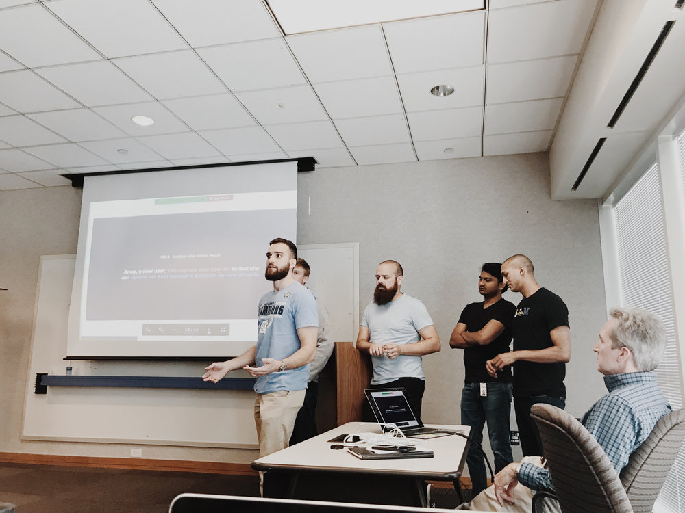 My team presenting some of their work