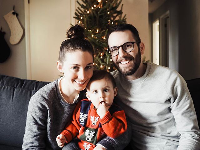 merry, merry. love, our little family of three.