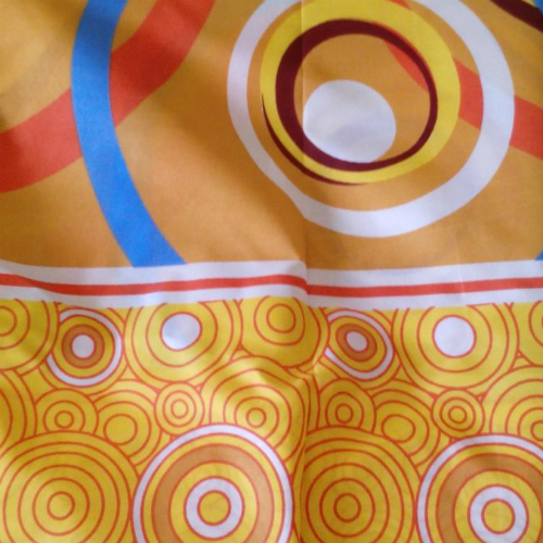 Orange Circles Fabric
