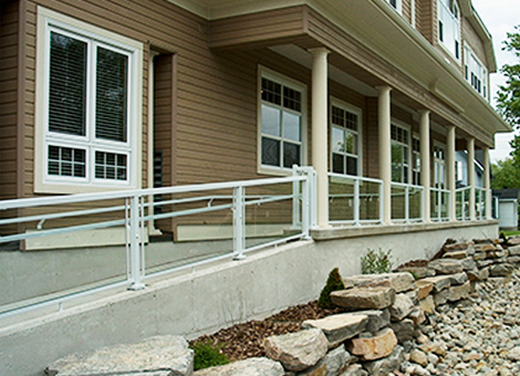 Commercial railings for business environments