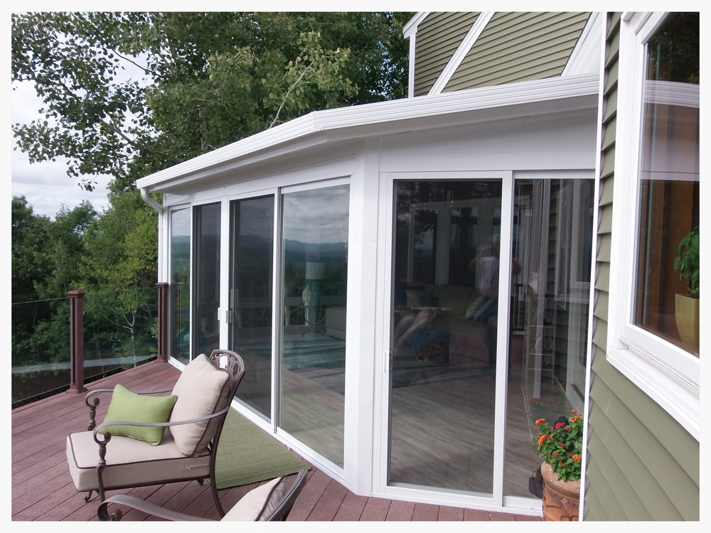 Year-round sunroom angle view