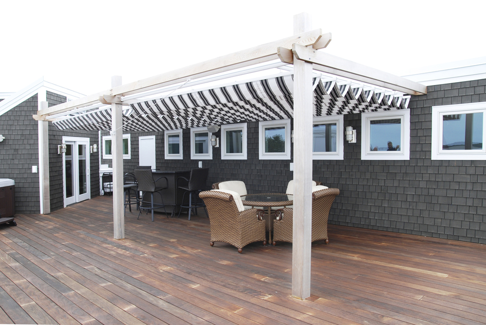 Commercial shade products - retractable canopies