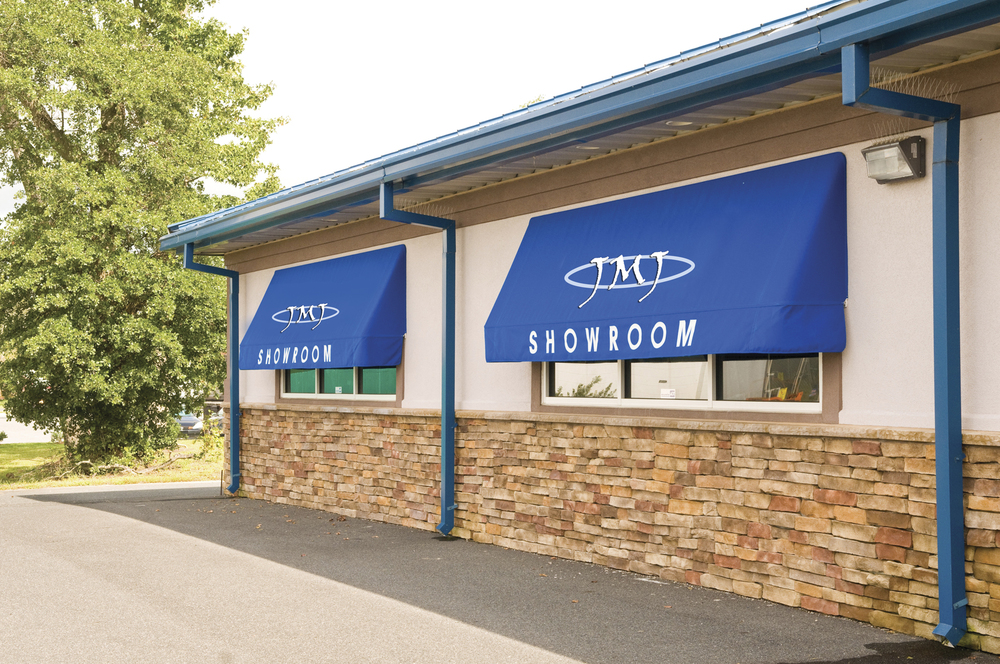 Commercial awnings with logos