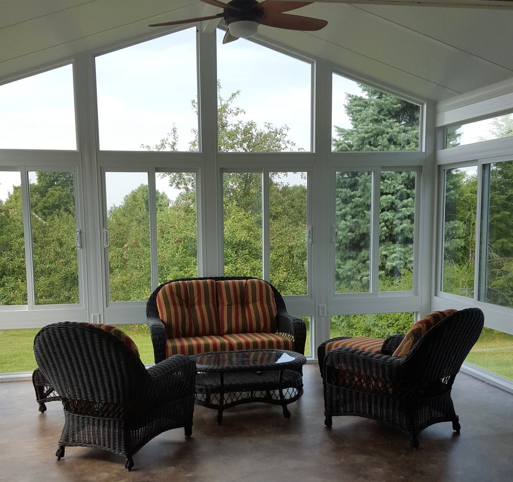 year-round sunroom gable end
