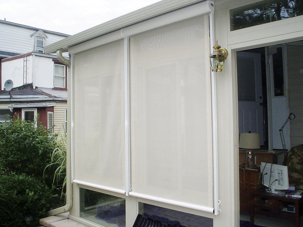 Sunroom solar shades