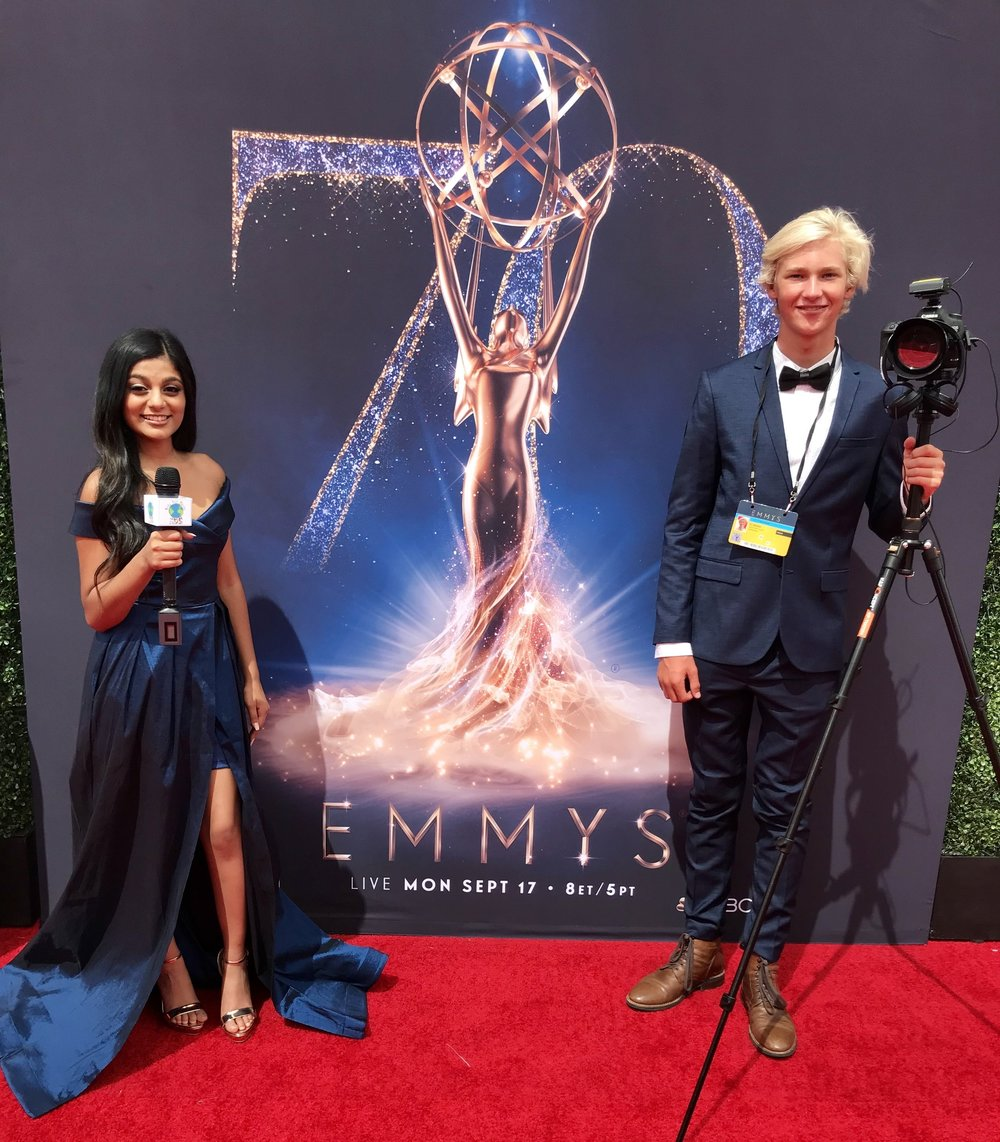MAKING AN IMPACT - Read About how Shivanii shared the Message of Kids for Peace and #DoItForPeace on the Creative Arts Emmys Red Carpet