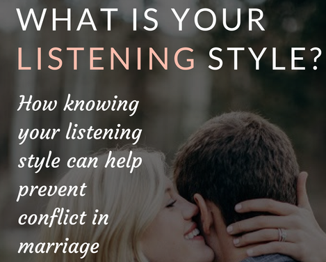 What Listening Style Are You Using? - Read Crystal's April post for NurturingMarriage.org