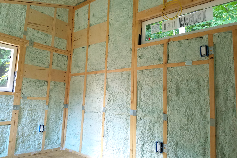 Closed-cell insulation reduces drafts and thermal bridging