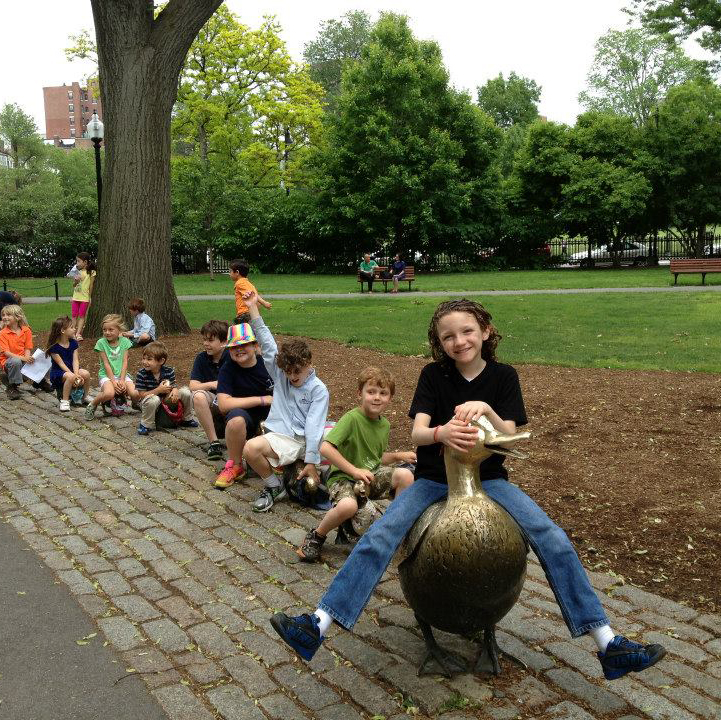 EPDS students at the Public Garden in Boston.