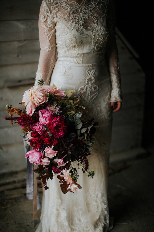 "100 LAYER CAKE, ""Moody and romantic early winter wedding inspiration"""