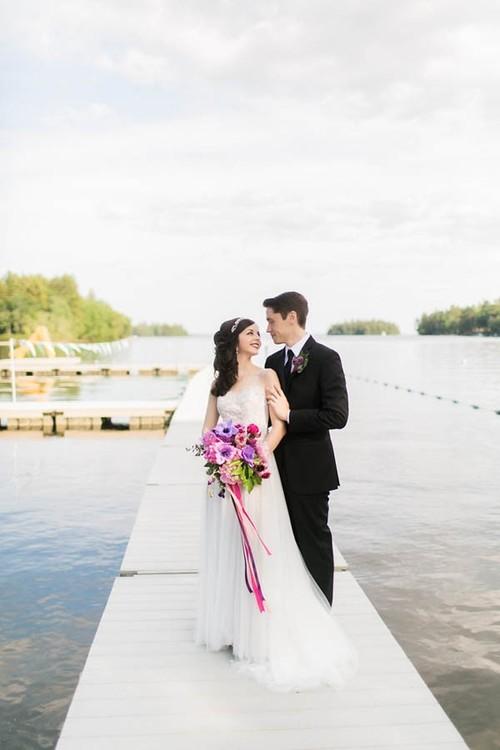 "JUNEBUG WEDDINGS, ""Quirky Elegant Wedding at Camp Mataponi"""