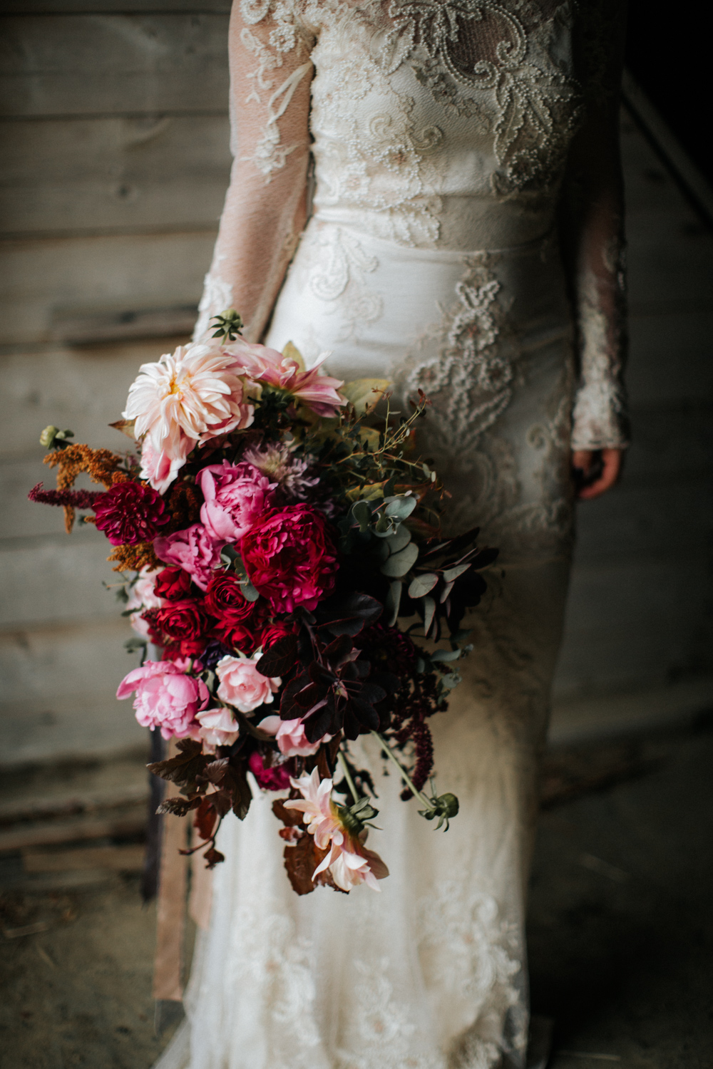 """100 LAYER CAKE, """"Moody and romantic early winter wedding inspiration"""" and REAL MAINE WEDDINGS, """"Dramatic Details"""""""