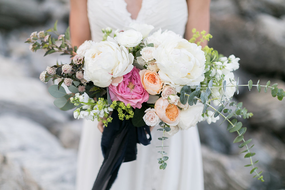 "COASTAL BRIDE, ""Rocky seaside elopement inspiration in Maine"""