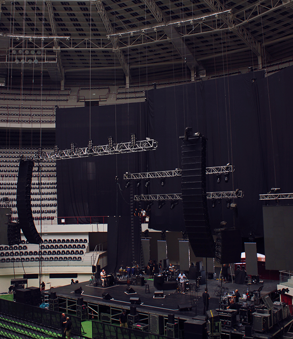 The stage right before soundcheck.