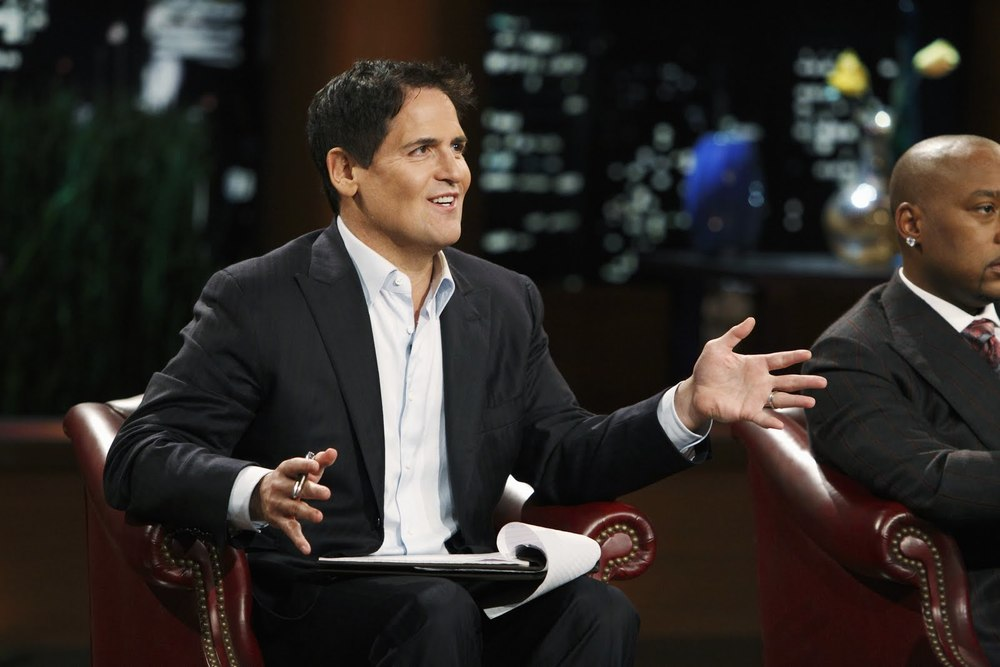 Mark Cuban judging pitches ABC's Shark Tank