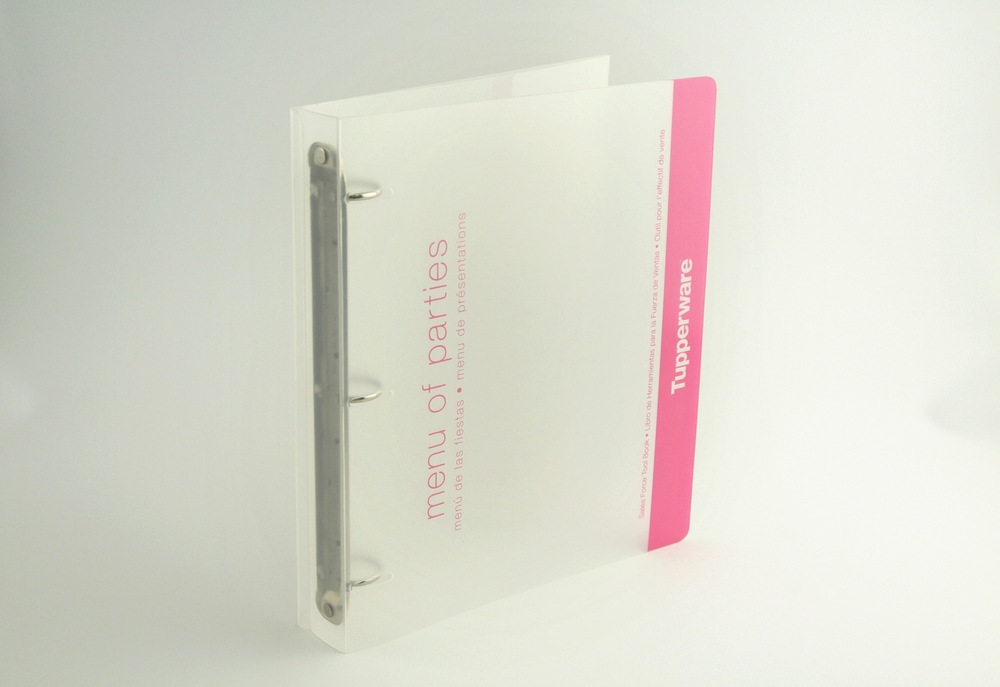 PP Easel Binder with Heat-Bend Lip