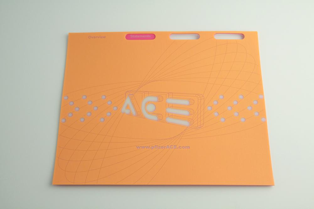 .035ga Natural PE - Screened 1/0. Custom Shape.