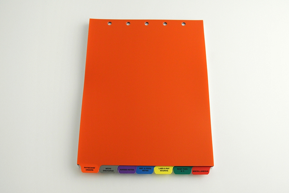 .016ga PE - Various Poly Colors. Screened 1/0. 1/7th Cut End Tabs