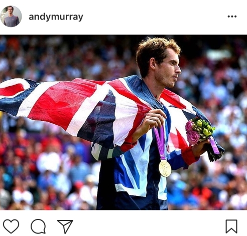 4.) Andy thinks of great past moments & posts this picture from 5 years ago
