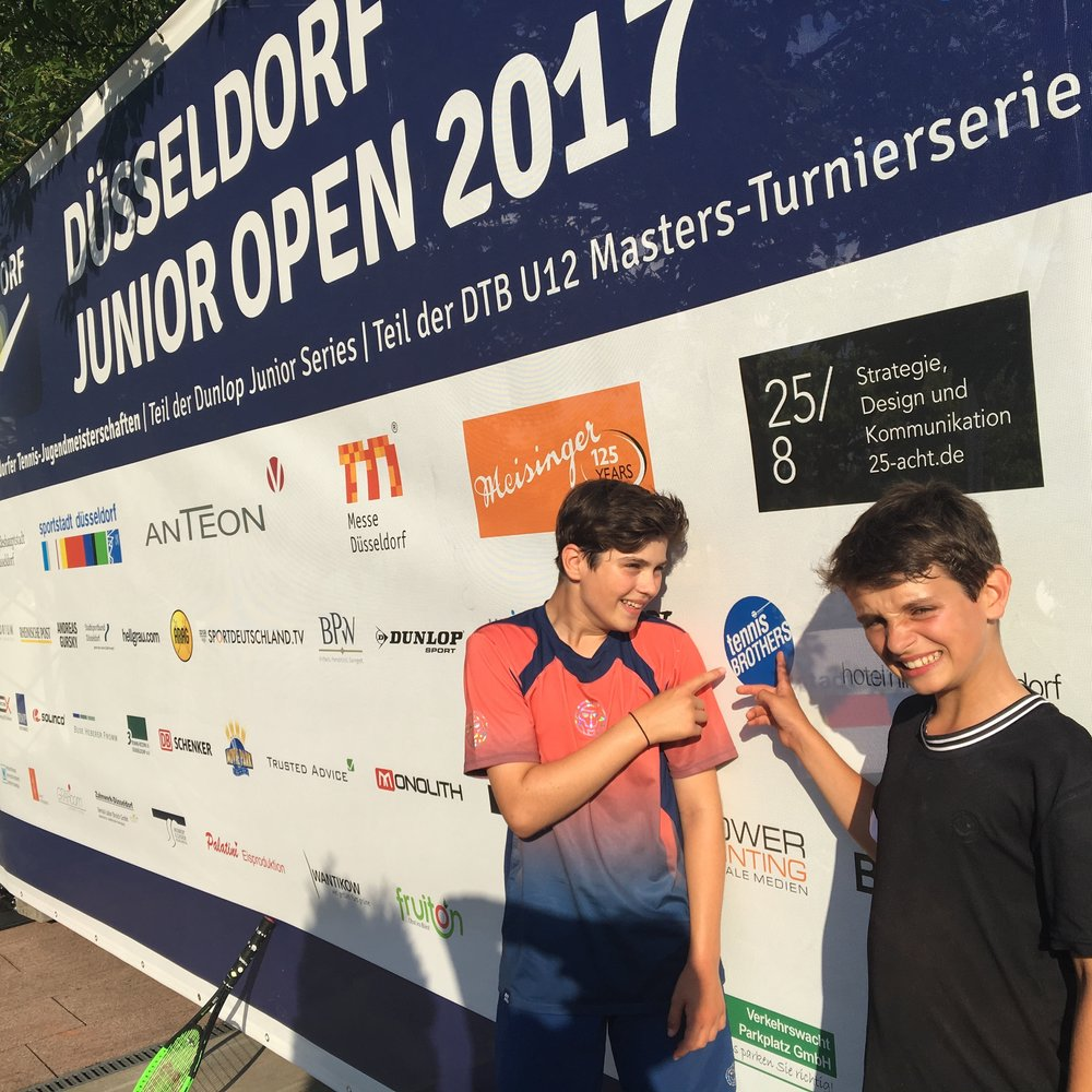 Us at the 2017 international Dusseldorf Junior Open in Germany.