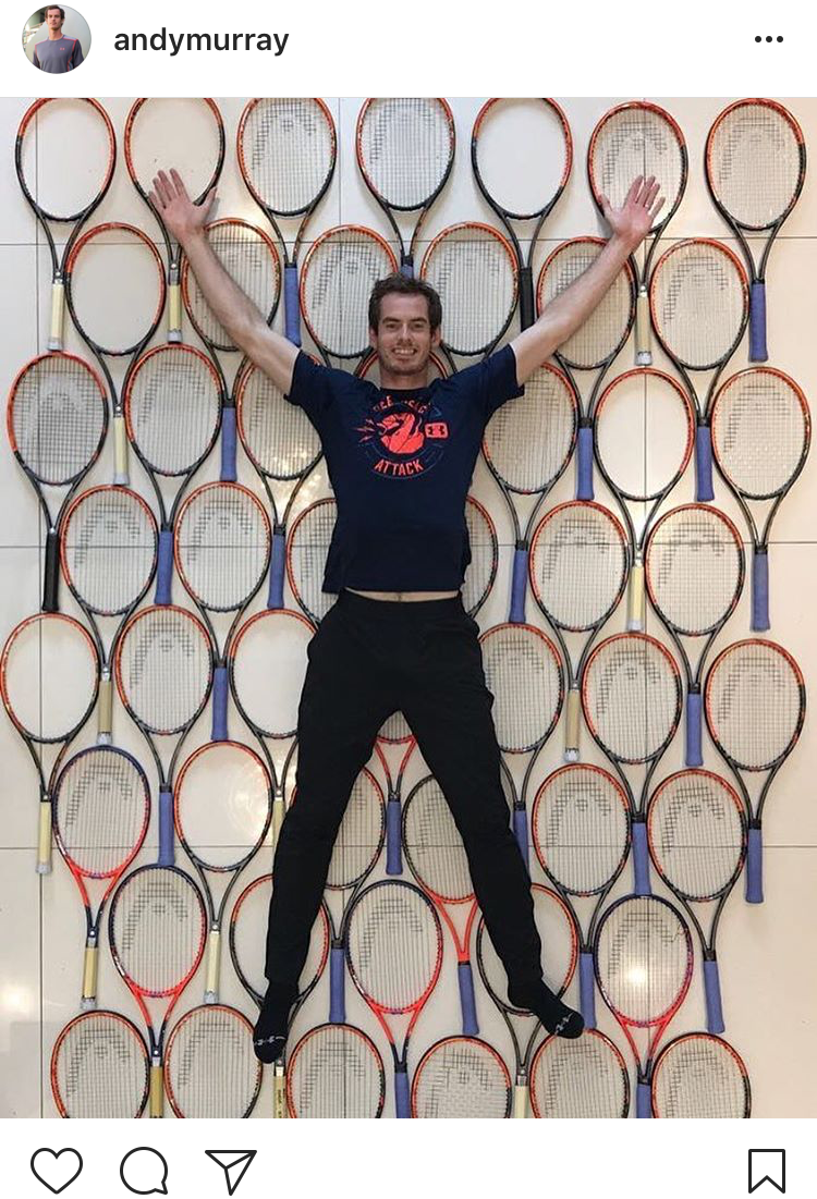 1.) Racket clean out Murray style...