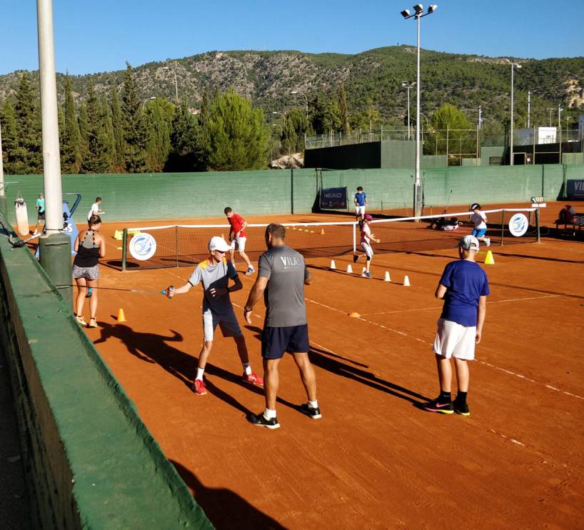 Training at the Villas Tennis Academy