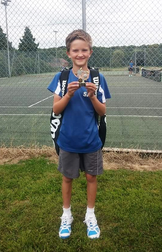 Sam after winning his 1st green ball tournament in Redditch