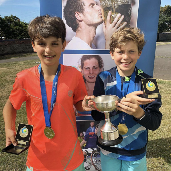 My Brother Lucian wins A national tennis tourament - with doubles partner Luca